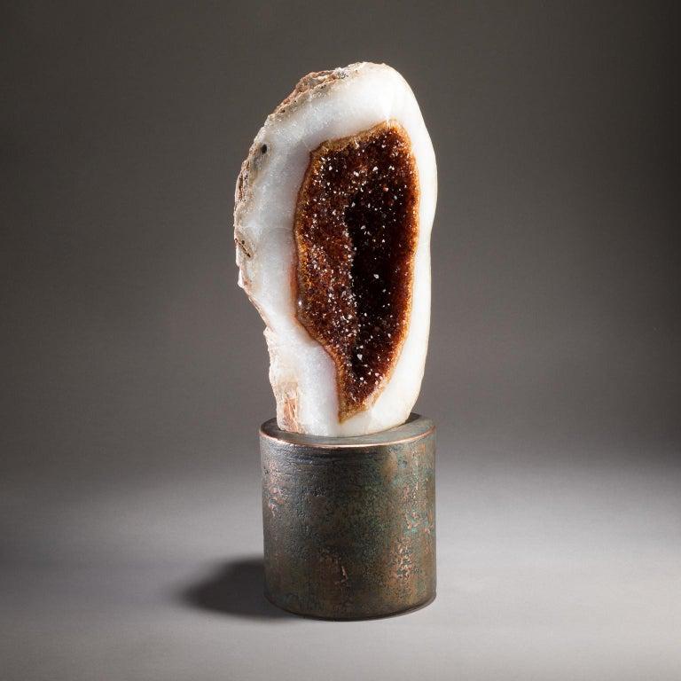 Studio Greytak 'Citrine on Copper Base' Citrine Specimen on Solid Copper Art For Sale 1