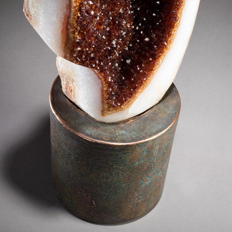Studio Greytak 'Citrine on Copper Base' Citrine Specimen on Solid Copper Art For Sale 2