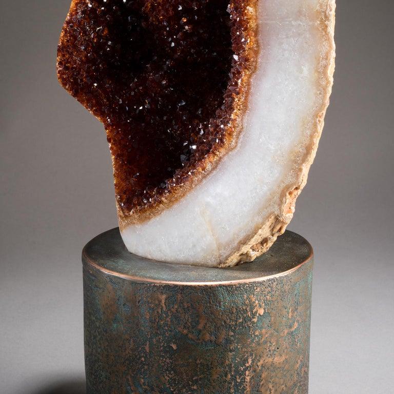 Studio Greytak 'Citrine on Copper Base' Citrine Specimen on Solid Copper Art For Sale 3