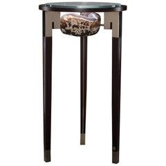 Studio Greytak 'Klassischer Peekaboo Tisch 3' Achat, Bronze & Wenge Beistelltisch