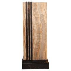 Studio Greytak 'Deco Glo' Lamp - Table in Bronze and Aragonite 'Onyx'