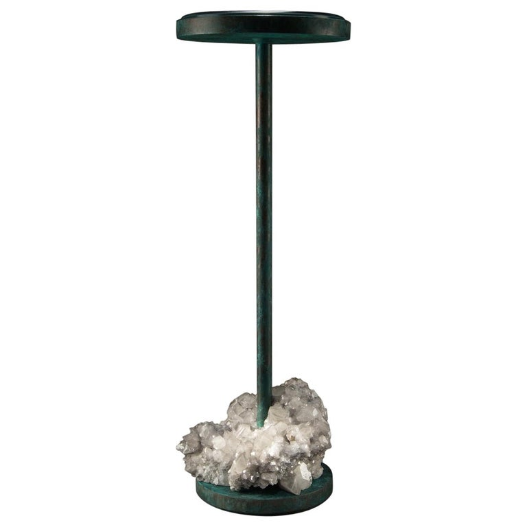 Studio Greytak 'Havana Table 10' Manganoan Calcite and Copper Patina For Sale