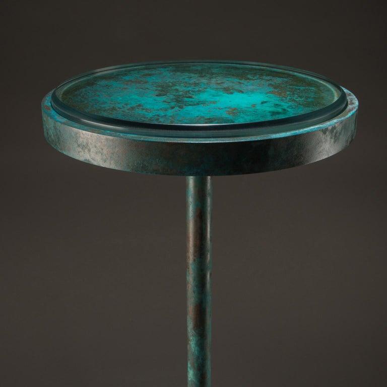 Modern Studio Greytak 'Havana Table 10' Manganoan Calcite and Copper Patina For Sale