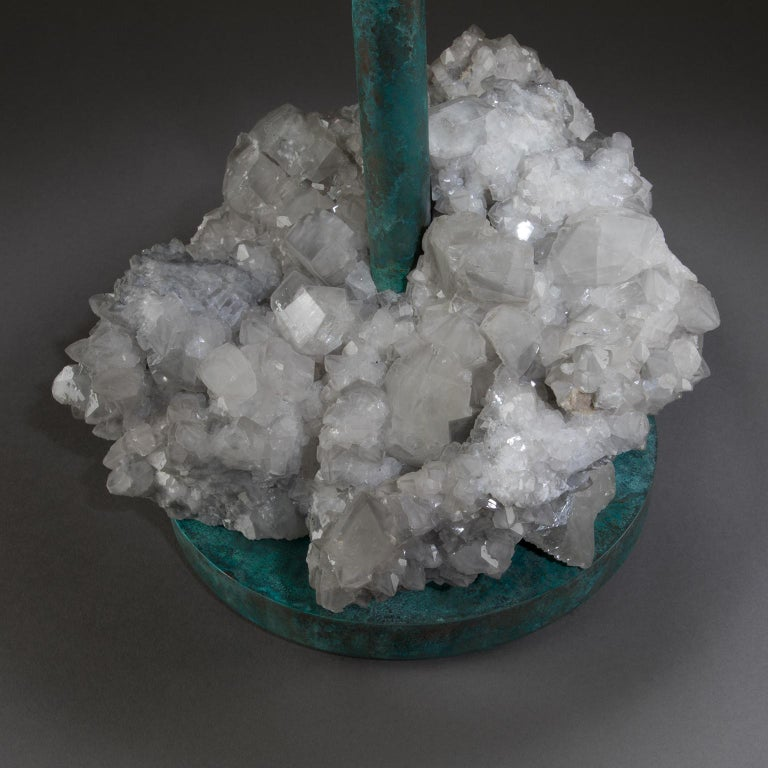 American Studio Greytak 'Havana Table 10' Manganoan Calcite and Copper Patina For Sale