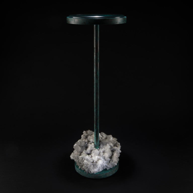 Contemporary Studio Greytak 'Havana Table 10' Manganoan Calcite and Copper Patina For Sale