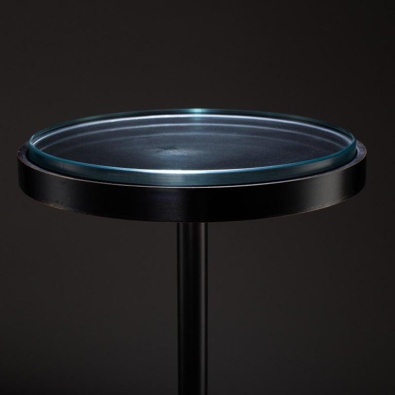 American Studio Greytak 'Havana Table 5' Quartz, Mica, and Oil Rubbed Bronze For Sale