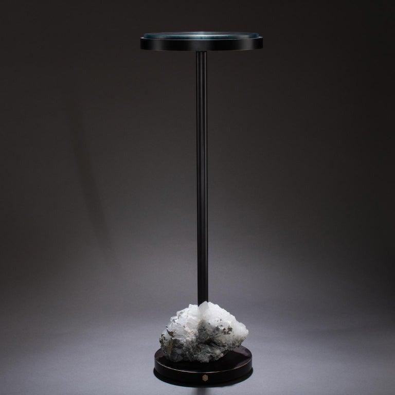 Studio Greytak 'Havana Table 5' Quartz, Mica, and Oil Rubbed Bronze For Sale 1