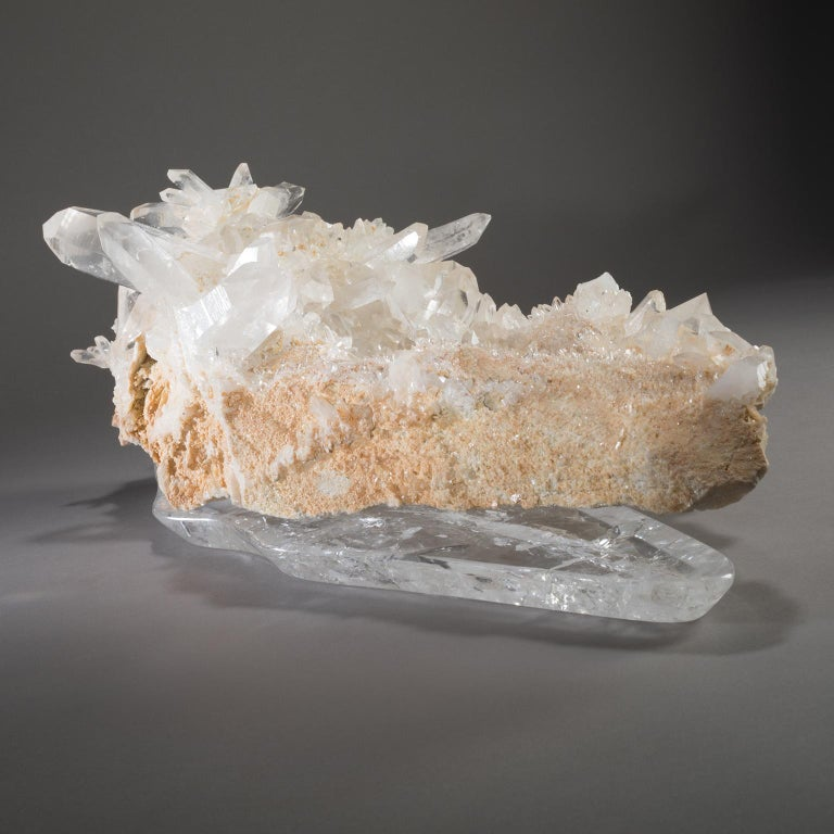 American Studio Greytak 'Himalayan Quartz on Crystal Base' Meru Peak Clear Quartz For Sale