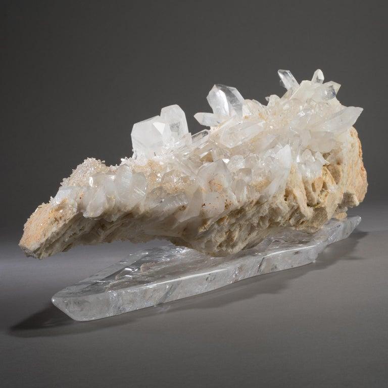 Studio Greytak 'Himalayan Quartz on Crystal Base' Meru Peak Clear Quartz In New Condition For Sale In Missoula, MT