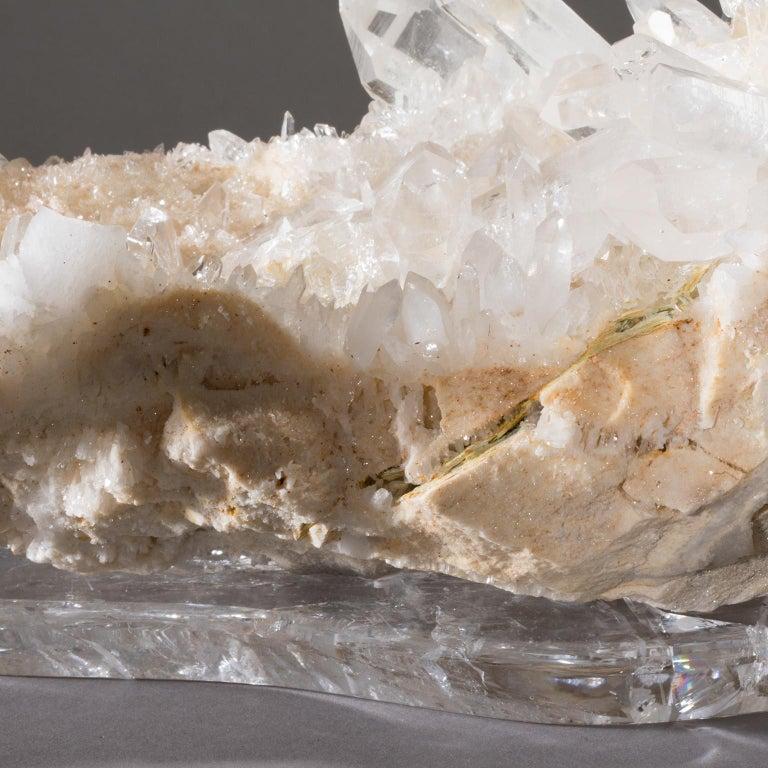 Studio Greytak 'Himalayan Quartz on Crystal Base' Meru Peak Clear Quartz For Sale 1