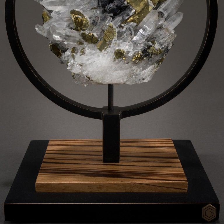 Studio Greytak 'Ouroboros 11' Bronze, Quartz, Sphalerite, and Chalcopyrite In New Condition For Sale In Missoula, MT