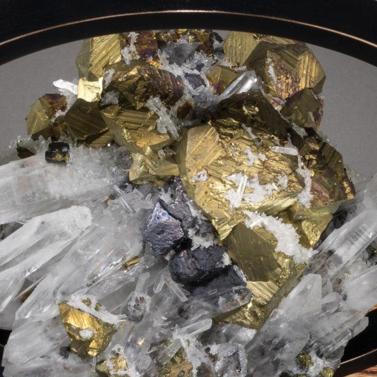 Contemporary Studio Greytak 'Ouroboros 11' Bronze, Quartz, Sphalerite, and Chalcopyrite For Sale