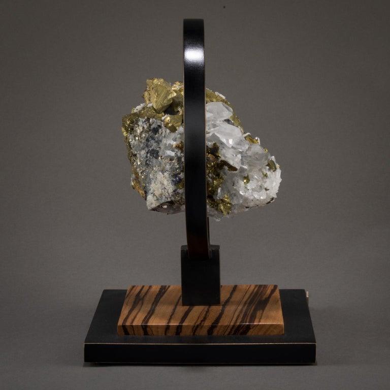 Studio Greytak 'Ouroboros 11' Bronze, Quartz, Sphalerite, and Chalcopyrite For Sale 1