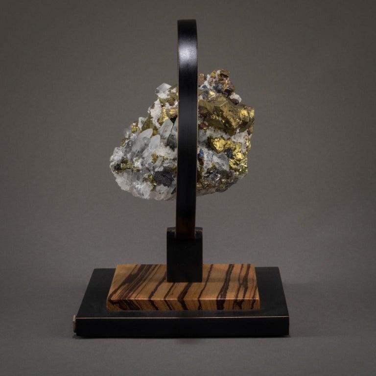 Studio Greytak 'Ouroboros 11' Bronze, Quartz, Sphalerite, and Chalcopyrite For Sale 2