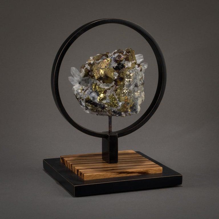 Studio Greytak 'Ouroboros 11' Bronze, Quartz, Sphalerite, and Chalcopyrite For Sale 3