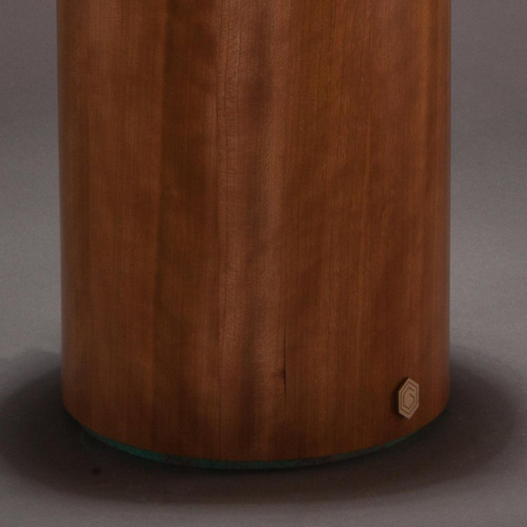 Studio Greytak 'Peekaboo 2'  Materials Koa wood Mangano Calcite Copper patina.