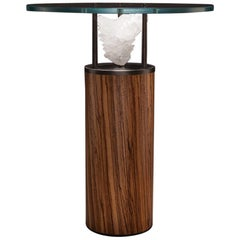 Studio Greytak 'Peekaboo Table 7' Gypsum, Iron and Zebrawood Occasional Table