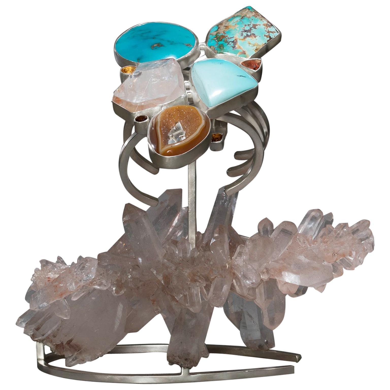 Studio Greytak 'Turquoise Bracelet on Himalayan Quartz' with Citrine & Sunstone