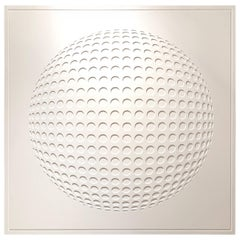 Studio JLS White Geometric Wall Sculpture, France, Contemporary
