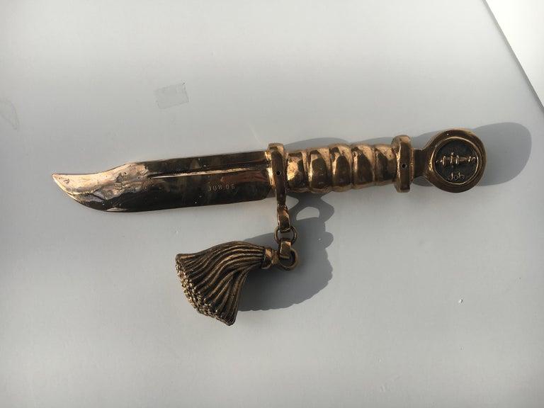 Bronze knife of STUDIO JOB with ornamental brush For Sale 7
