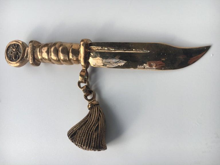 Bronze knife of STUDIO JOB with ornamental brush For Sale 11
