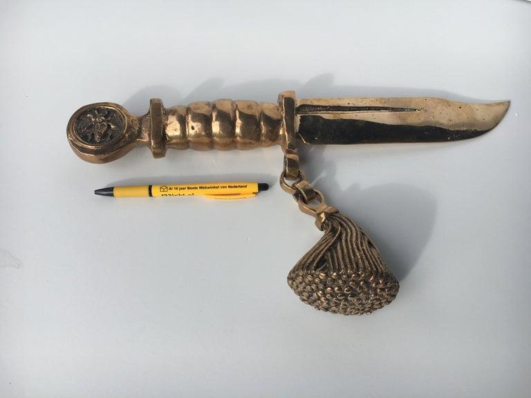Bronze knife of STUDIO JOB with ornamental brush For Sale 12