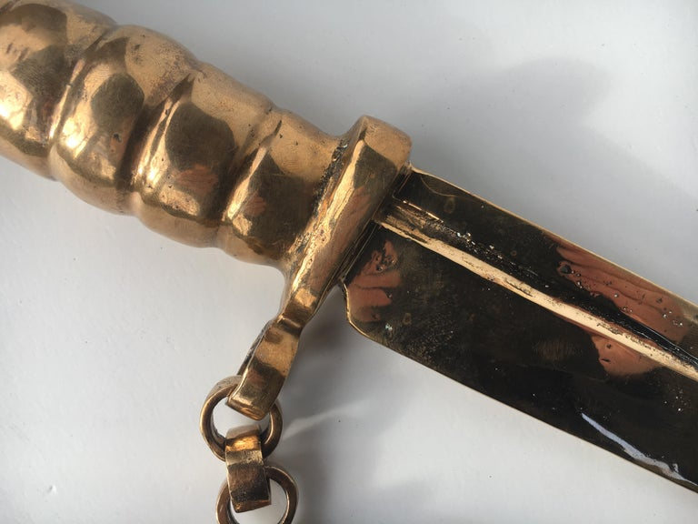 Bronze knife of STUDIO JOB with ornamental brush For Sale 13