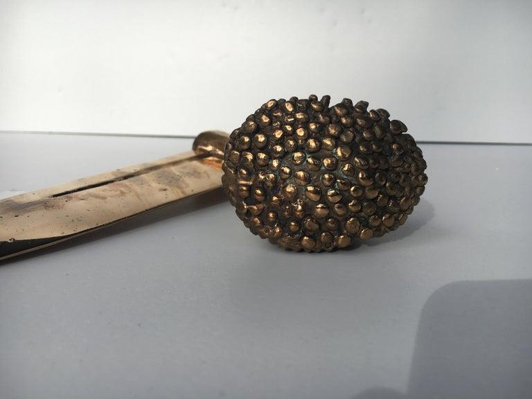 Bronze knife of STUDIO JOB with ornamental brush For Sale 2