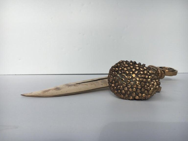 Bronze knife of STUDIO JOB with ornamental brush For Sale 4