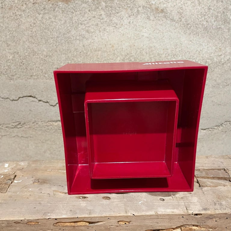 Plastic Studio Joe Colombo for Alitalia Airlines Red Ashtray Milano, Italy, 1970s For Sale