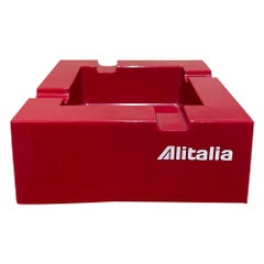Studio Joe Colombo for Alitalia Airlines Red Ashtray Milano, Italy, 1970s