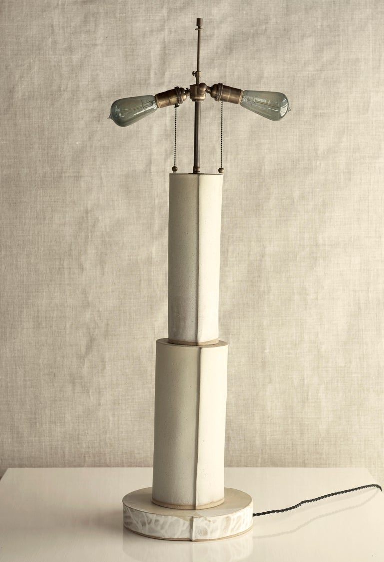 American Studio Lamp, Ceramic Sculptural Table Lamp by Dumais Made For Sale