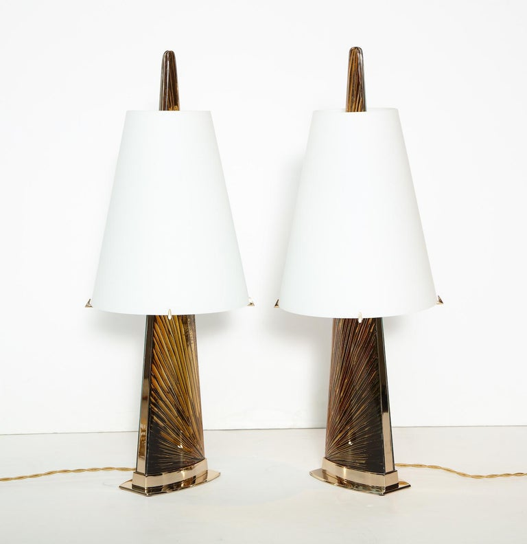 """Contemporary Studio-Made """"Abisso"""" Lamps by Ghiró Studio For Sale"""
