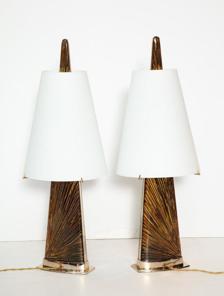 """Brass Studio-Made """"Abisso"""" Lamps by Ghiró Studio For Sale"""