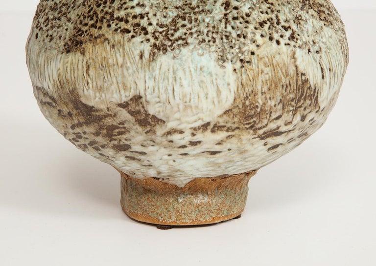 Modern Studio-Made Footed Vase by Dena Zemsky For Sale