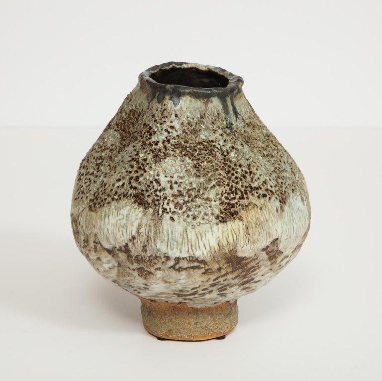 American Studio-Made Footed Vase by Dena Zemsky For Sale