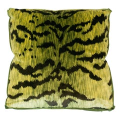 Studio Maison Nurita Chartreuse Bevilacqua Tiger Silk Velvet and Satin Pillows