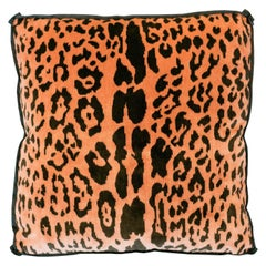 Studio Maison Nurita Coral Bevilacqua Leopard Silk Velvet and Satin Pillows