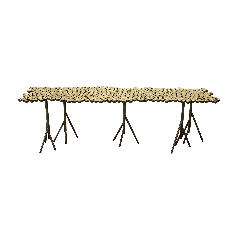 Chestnut, StudioManda, Coffee Table, Bench, Brass, Limited Edition, Lebanon 2019