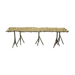 Chestnut, StudioManda, Coffee Table, Bench, Brass, Limited Edition, Lebanon 2019