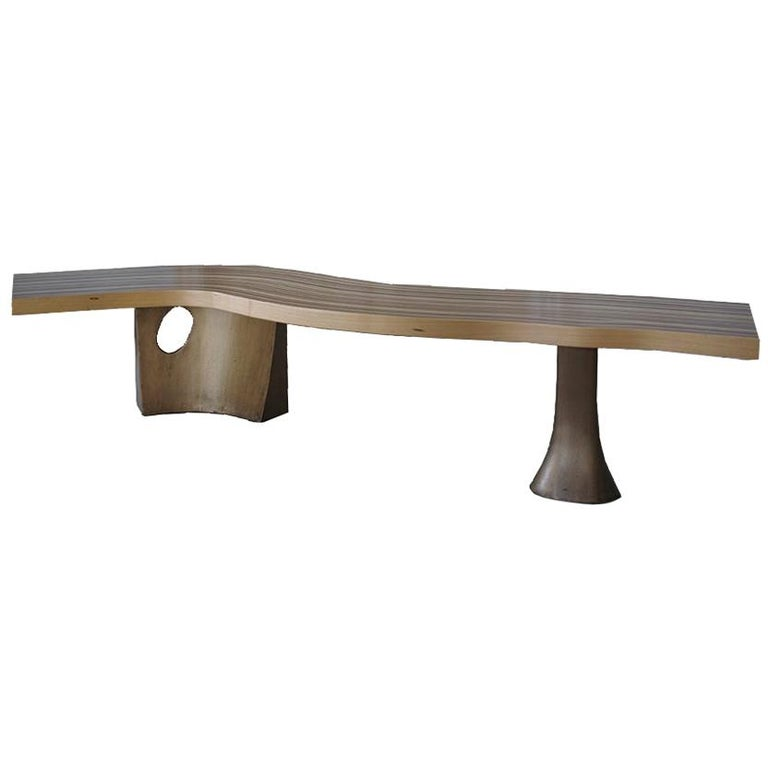 Wave, StudioManda, CoffeeTable, Wood, Liquid Metal, Limited Edition, Lebanon2012 For Sale