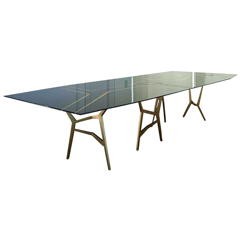 Marble Tree, StudioManda, Dining Table, Cast Brass, Marble Top, Lebanon 2017