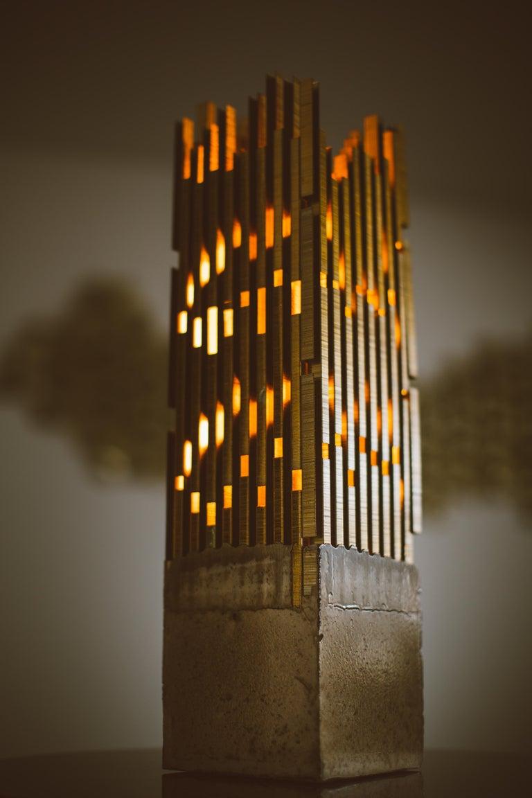 Brutalist Urban, StudioManda, Table Lamp, Staples, Concrete, Limited Edition, Lebanon 2014 For Sale