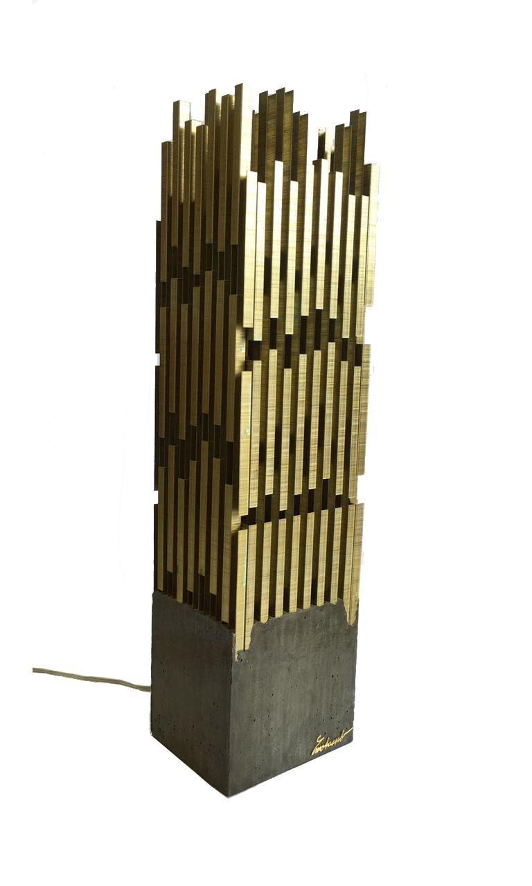 Lebanese Urban, StudioManda, Table Lamp, Staples, Concrete, Limited Edition, Lebanon 2014 For Sale