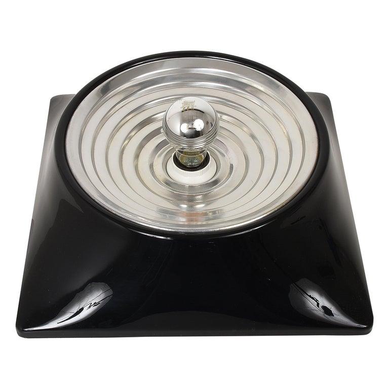 """Studio Nizzoli Midcentury Black Resin Italian """"Model 1369"""" Sconce, Stilnovo 1969 For Sale"""