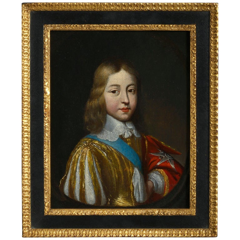 Studio of Charles Beaubrun, Portrait of Louis XIV of France For Sale