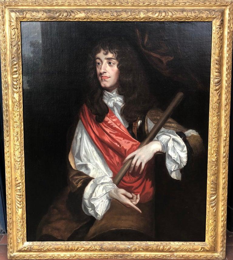 Studio of Sir Peter Lely Figurative Painting - 17th Century English Oil Painting Portrait of King James II