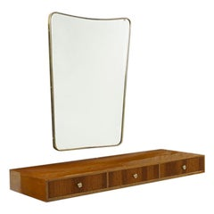 Studio PFR Set with a Console Table and Wall Mirror, Italy, 1960s