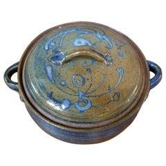 Studio Pottery Lidded Pot  by Herman Volz