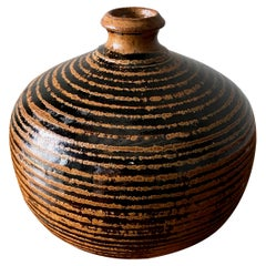 Studio Pottery Signed Ceramic Vase, circa 1965